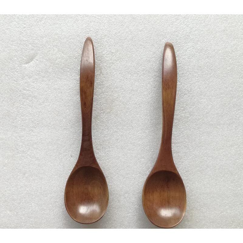 Eco-friendly Natural Wooden Spoon Teaspoon Tableware Milk Honey Spoon Soups Coffee Tea Scoop Kitchen jllGkx insyard