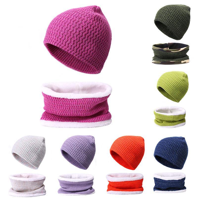 sciarpa Cappello 2 pezzi di lana autunno e l'inverno caldo delle donne coreane di cappello a maglia peluche addensato bicicletta tappo di protezione per le orecchie