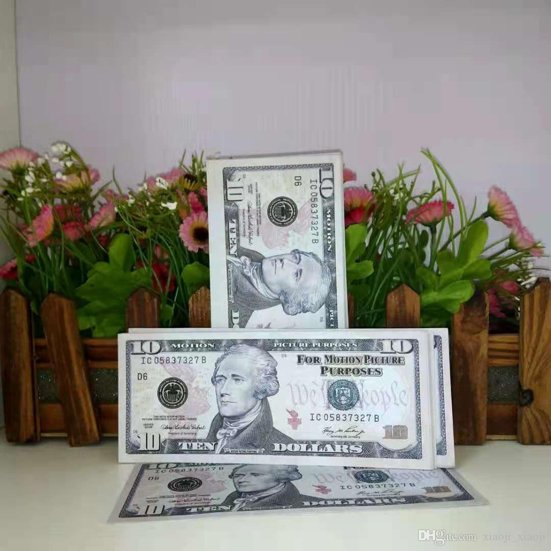 Çocuk Film Yeni Prop En İyi Kalite Banknot Doları Para Birimi Partisi 006 Para 10 Hediye Oyuncak Sahte Banknot Nxteu