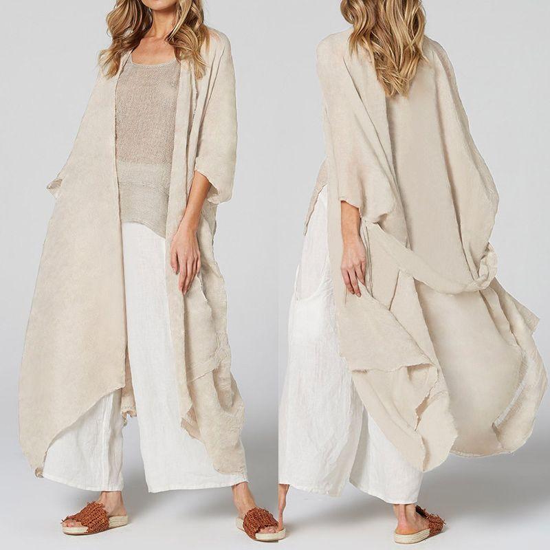 Celmia mulheres longas blusas solta casual quimono cardigan tops barril verão praia cobertura camisas fina casacos blusas plus size 5xl y200828