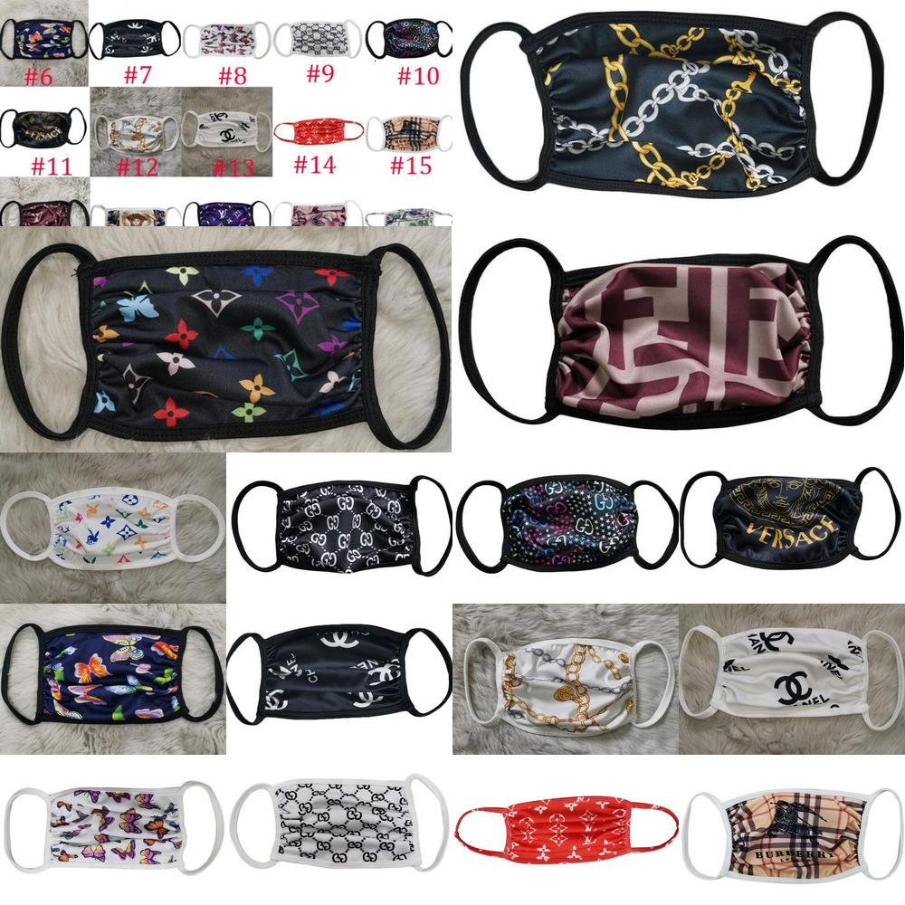 20Style marca moda unisex face máscaras lavável respirável designer de luxo máscara na moda impressão reutilizável anti-poeira máscaras de ciclismo
