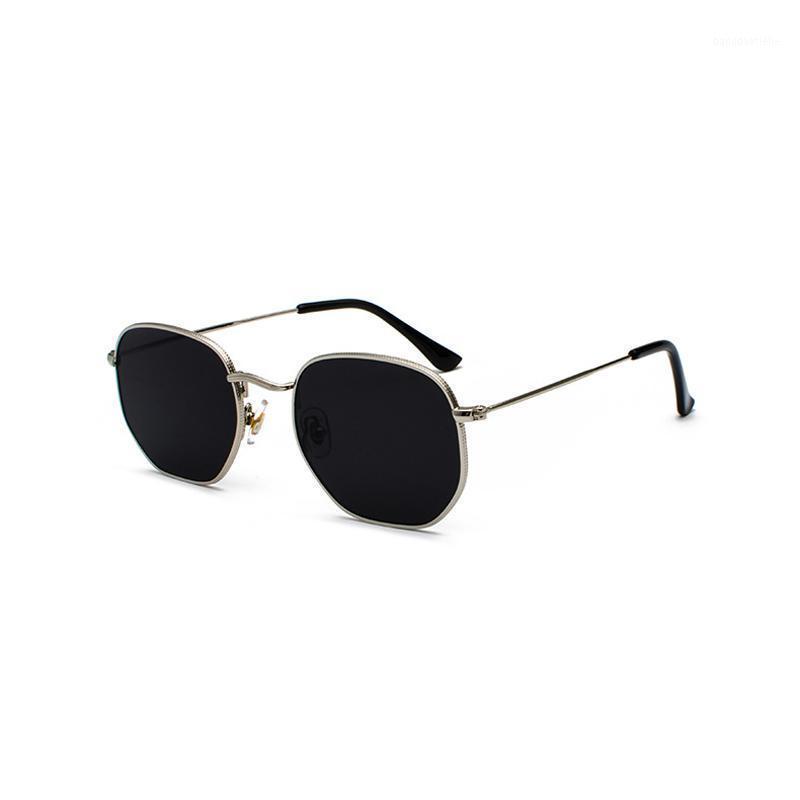 Zilaad novo vintage ouro óculos de sol homens quadrado moldura de metal prata marrom preto pequeno óculos de sol feminino unisex estilo verão shades1
