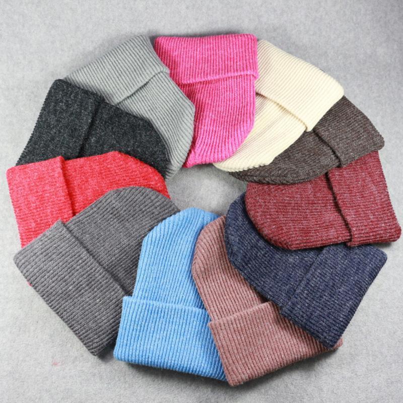 Новые 2020 Зимние шапки для дамы женщин вязание крючком вязать Cap Skullies Шапочки теплые шапки Мода Женский Симпатичные Твердая Вязаная Стильный Hat