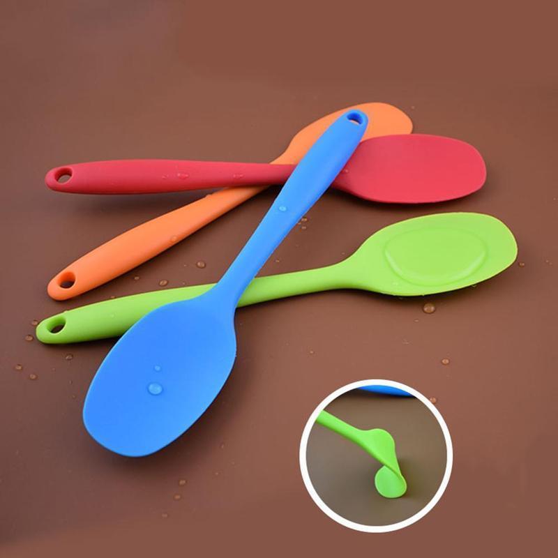 1 stück Hitzebeständiger Silikonlöffel Griff Nichtsticktopf Suppe Kratzschoppen Silikonlöffel Küche Kochen Werkzeuge LPF4470