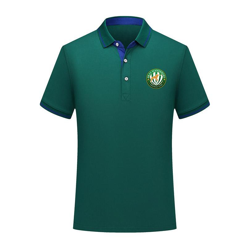 Bray Wanderers camicia di estate di calcio di polo di modo del cotone degli uomini Maglia manica corta formazione camicia di uomini risvolto di polo di calcio di polo