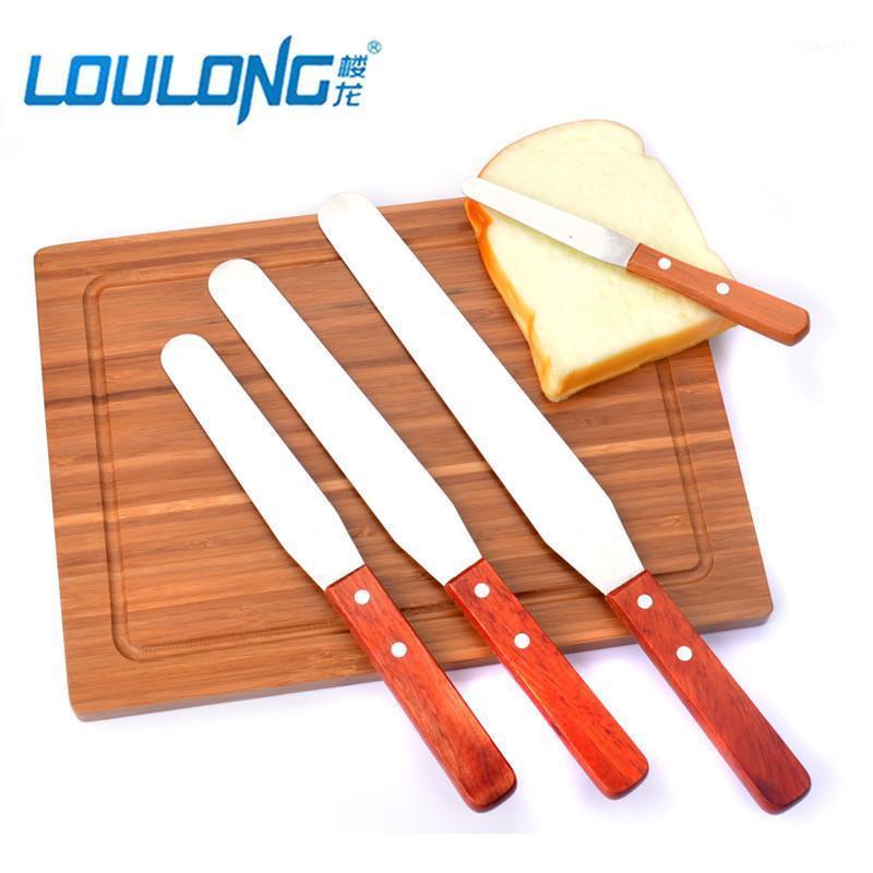 4 stücke 4/6/8/10 zoll kuchen creme messer kuchen glatter backen gebäck spatulas edelstahl backgore butterwerkzeuge bk0271