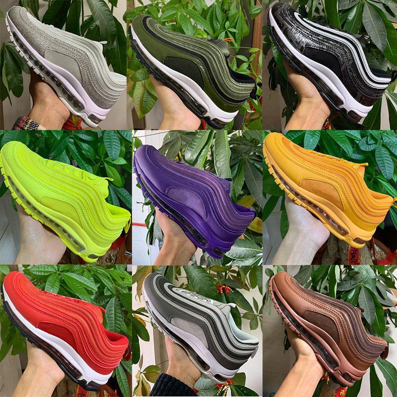 97 koşu ayakkabıları 2020 Sean Wotherspoon 97 Erkek ayakkabı Vintage Mozaik İsa Üçlü Beyaz Siyah Bullet 97S Erkekler kadınların spor Spor ayakkabılar Koşu