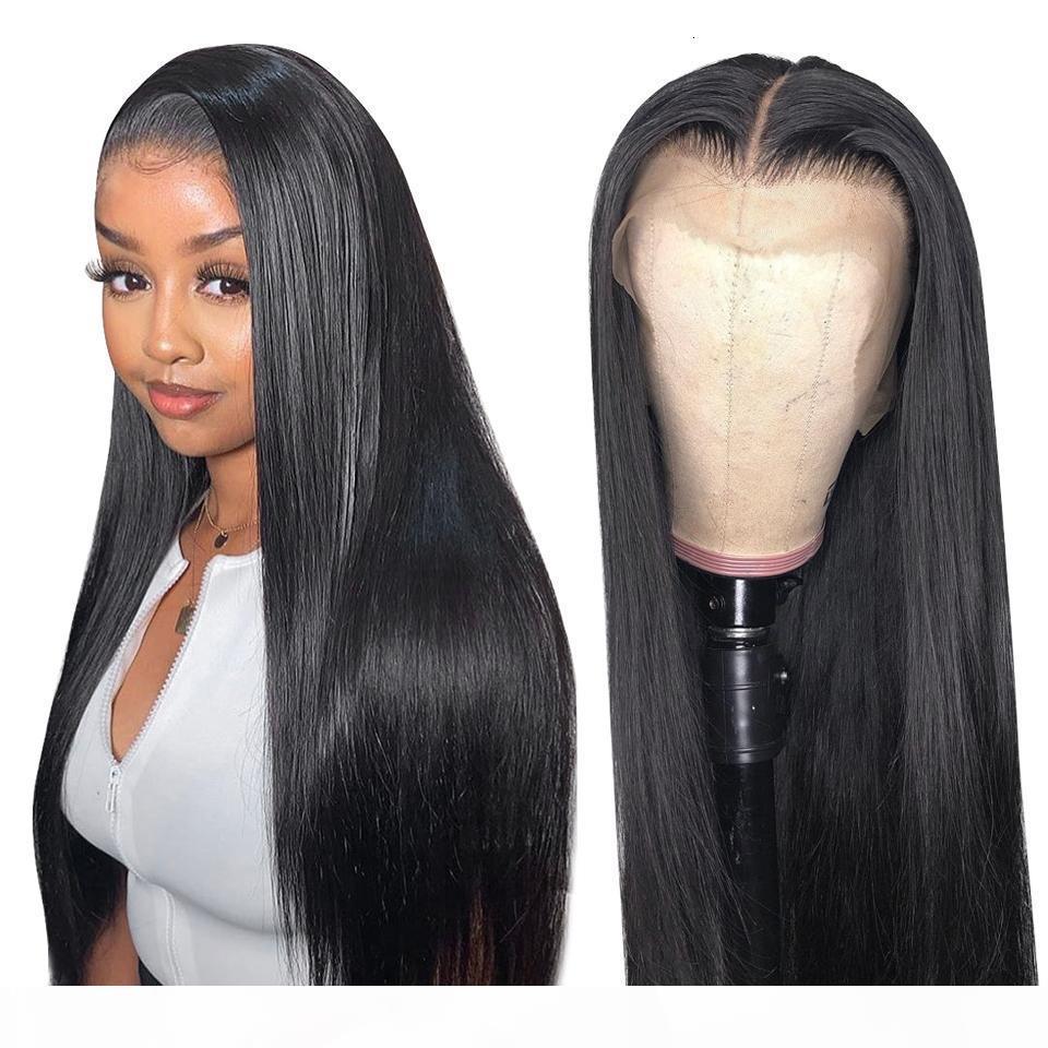 13x4 Droit Dentelle Front Human Hair Perruques Remy Brésilienne Human Hair Dentelle Perruques pour femmes Prévoyées avec des cheveux bébé 150 Densité