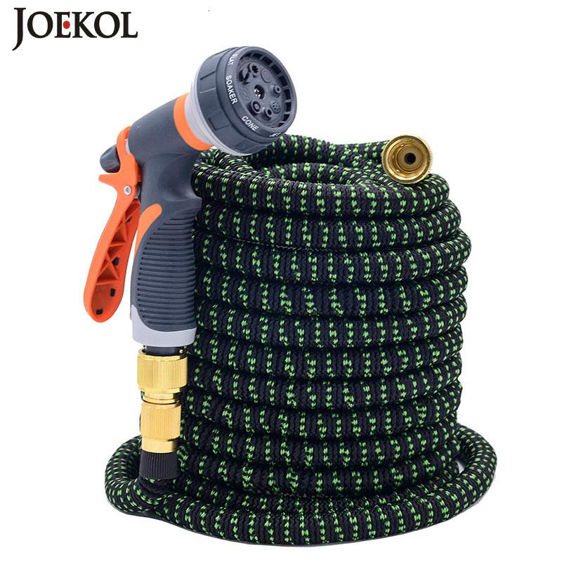 2019NEW Expandable Flexible Magic Garden Water Watering Car Washing Hose Pipe Plastic With Spray Gun Y200106