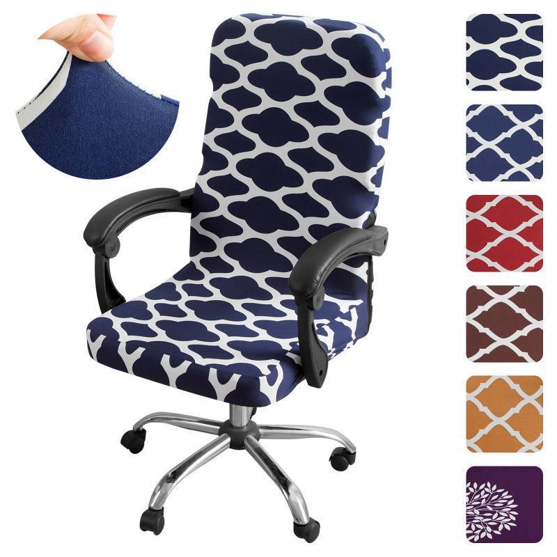 M / L Impreso elástico de la oficina de la oficina de la oficina de la oficina de la oficina de la computadora a prueba de polvo Silla de la silla de la silla de la silla giratoria del protector
