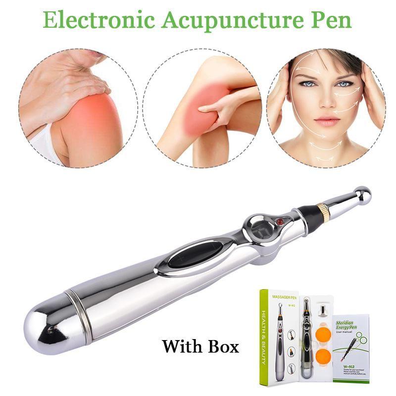 الوخز بالإبر الإلكتروني القلم الخطيات الكهربائية العلاج بالليزر علاج تدليك القلم ميريديان الطاقة القلم الإغاثة أدوات الألم EWE2208