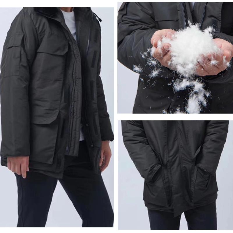 겨울 재킷 남자 남자 코트 고품질 진짜 늑대 모피 Hoold windproof 방수 거위 파카 스노우 슈트