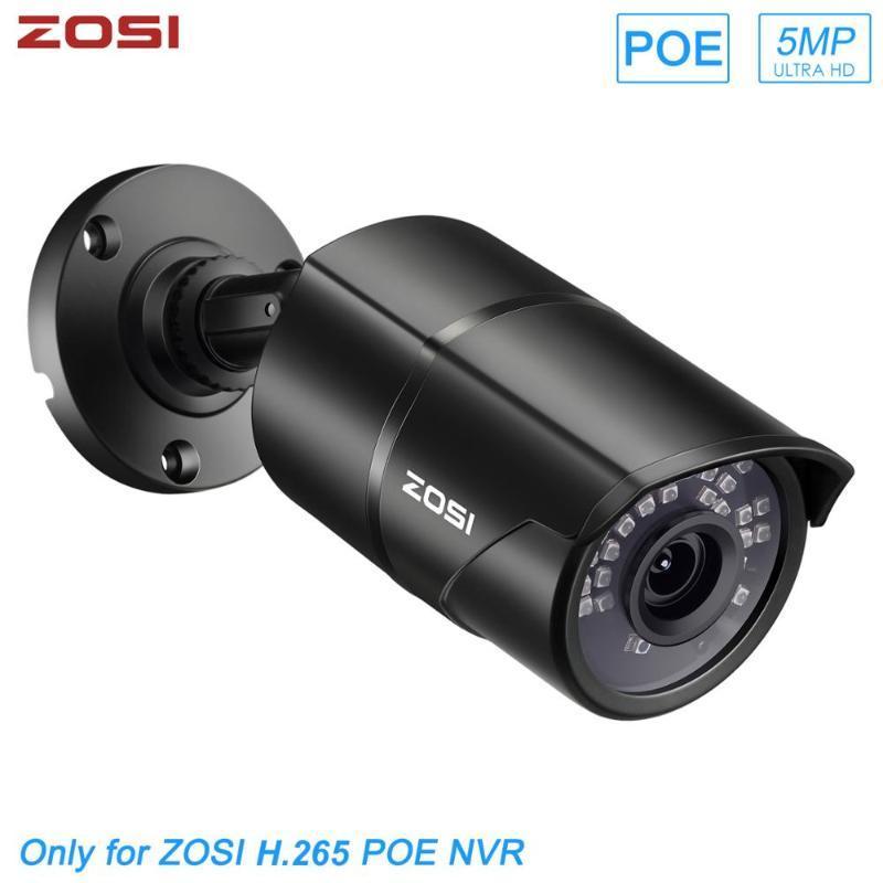 Zosi appareil photo de 5MP HD H.265 PoE extérieur 30m infrarouge étanche vision nocturne Sécurité Caméra de surveillance vidéo CCTV