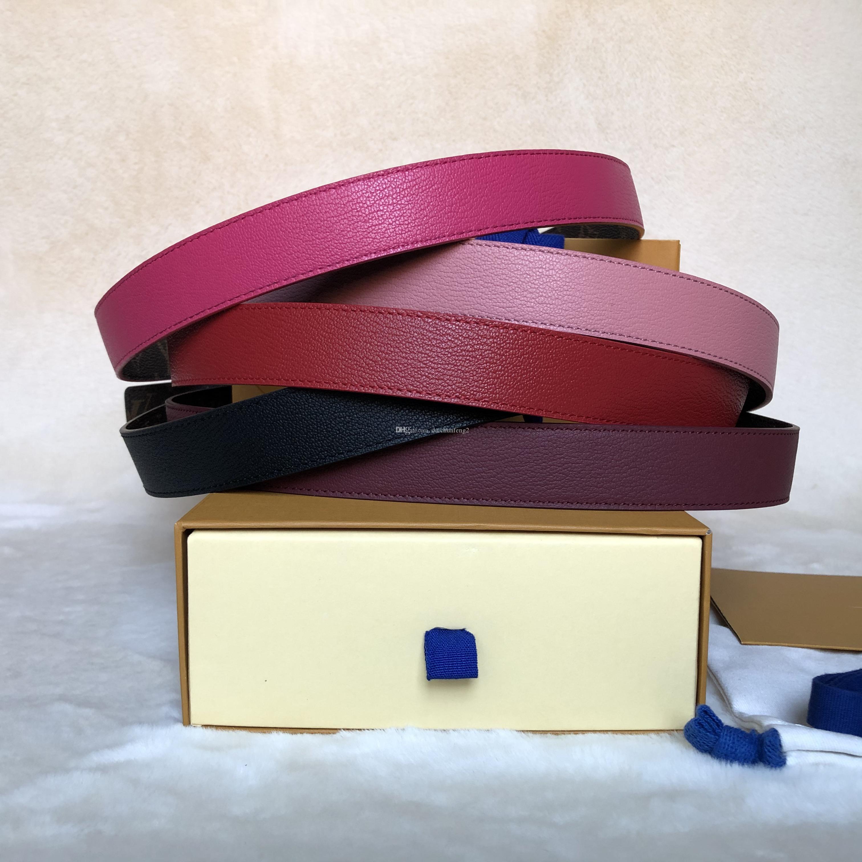 أزياء أفضل جودة حقيقية جلد طبيعي مع خطاب الذهب / الفضة عكسها مشبك المرأة حزام مع مربع مصممي الرجال أحزمة مصمم أحزمة