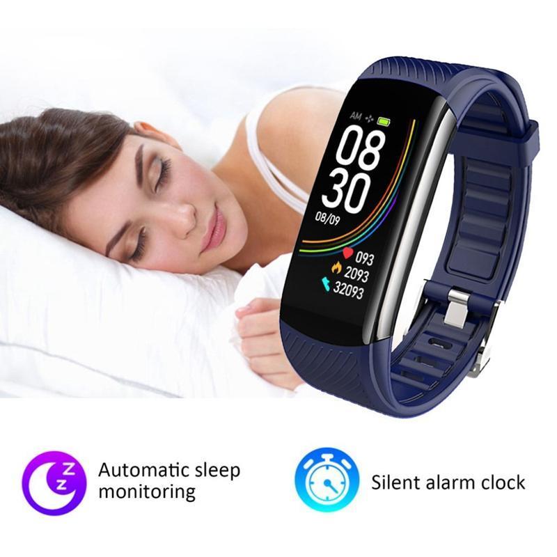 Температура тела C6T браслет Часы Информация Нажмите сна Упражнение Шаг Смарт Браслет Водонепроницаемая Женский