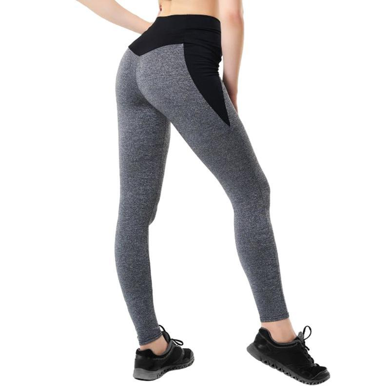 Women's Casual Workout Legging Fitness Sports Running Yo ga Pants Elastic Breathable Athletic Pants Spandex Slim Pencil Trousers