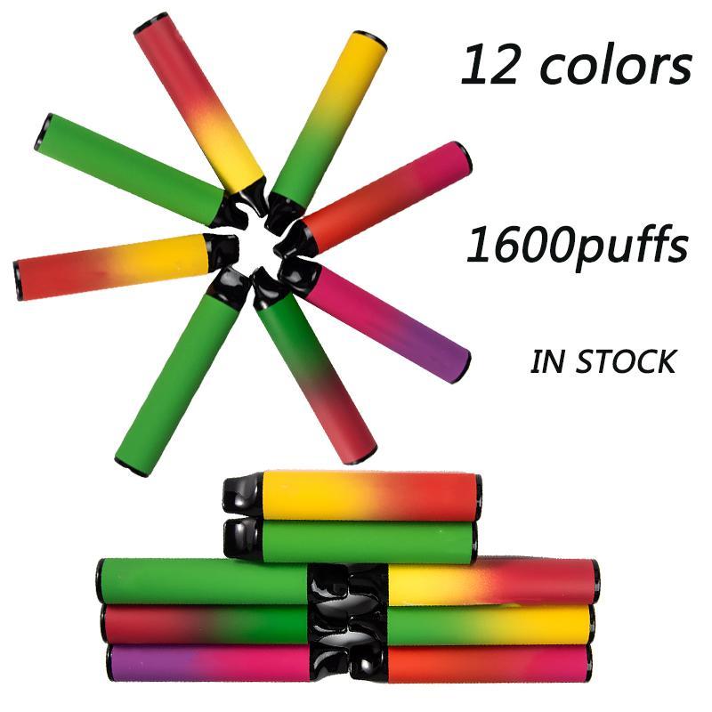 XXL одноразовые вершины ручки 1600 пухов E Cigarettes 6.5 мл предварительно заполненные стручки 1000 мАч одноразовое устройство пустые стручки с кодом безопасности