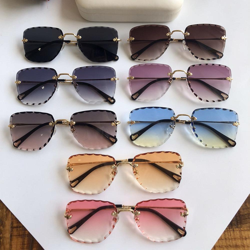 Marka Çerçeve Tasarımcısı Gözlük Anti Mavi Bilgisayar Düz Panel Anti Radyasyon Gözlük Hayranları Moda Tam Çerçeve Gözlük Lüks Güneş Gözlüğü