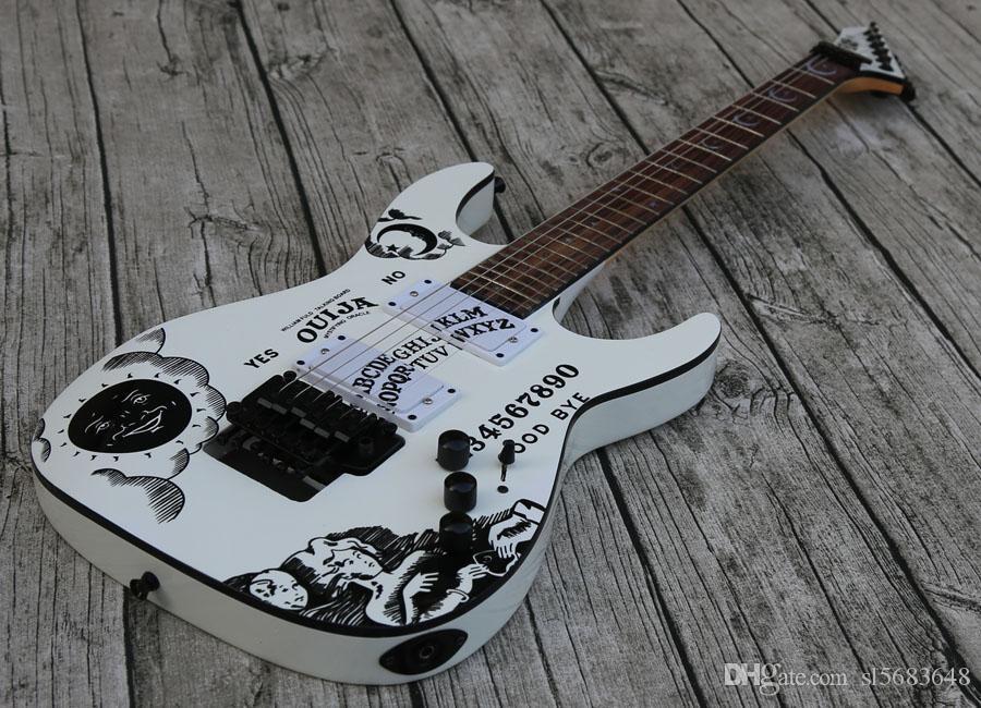 Freies Verschiffen! Großhandelskundenspezifische heiße verkaufende elektrische Gitarre in Weiß, Qualitäts-Gitarren mit Palisander Griffbrett, Hals -Thru -Body 0903