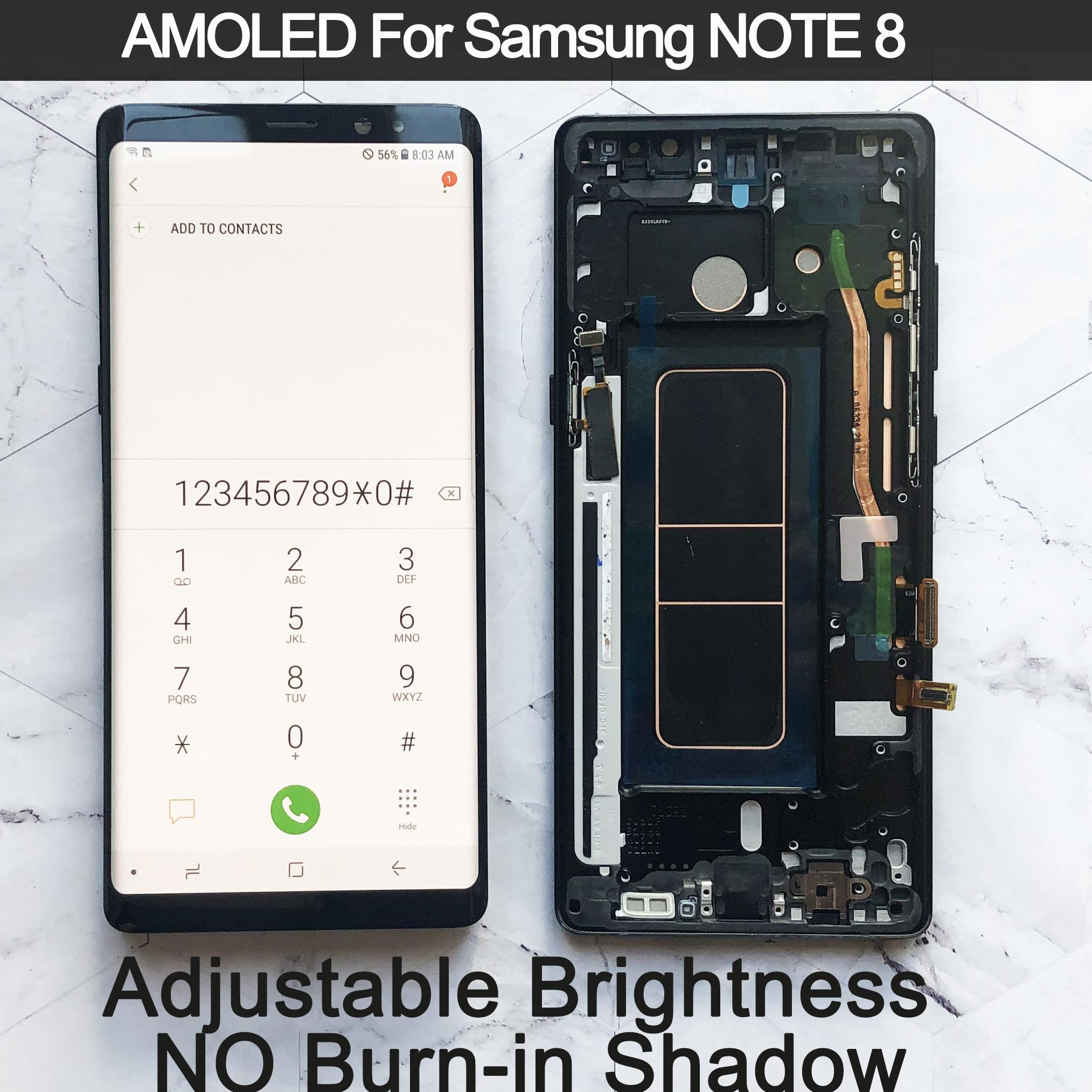 """6.3"""" Original AMOLED Display For SAMSUNG Galaxy NOTE 8 LCD N950 N950F N950N Note8 Touch Screen Replacement Parts"""