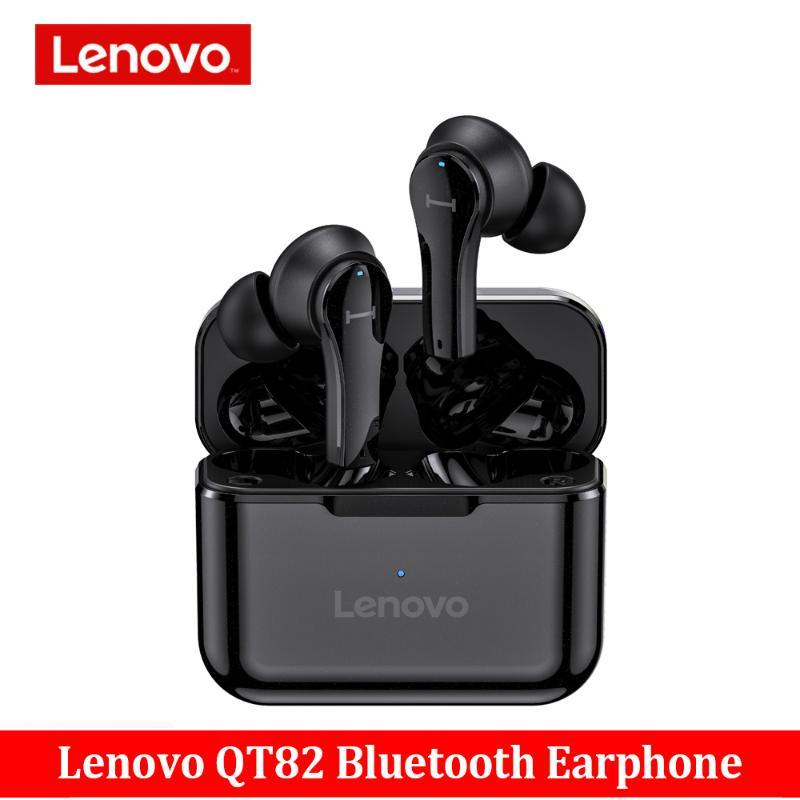 Sem fio Bluetooth Earphones Touch Control Original Lenovo QT82 Stereo HD Voice 400mAh Headset Vs Lenovo LP1S Earphones
