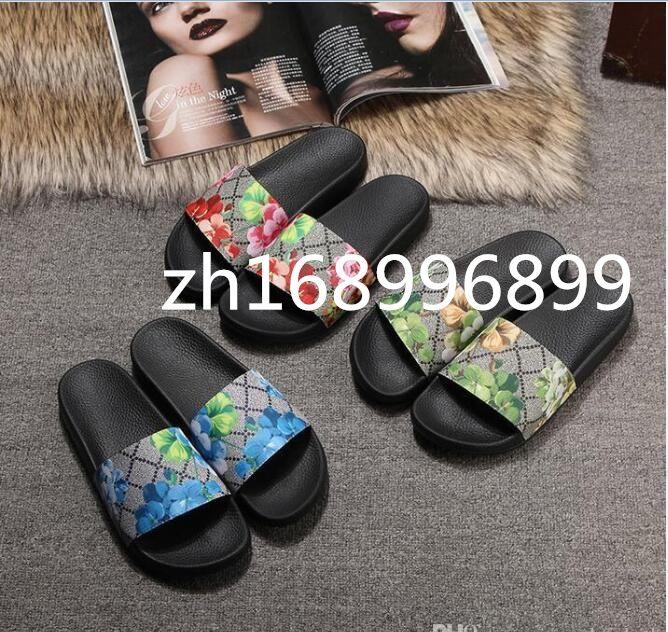Classic Sell Well Sandalias de goma Nuevo Floral Brocado Hombres Mujeres Zapatillas de moda Red Blanco Engranaje Bottoms Diapositivas Casual Slipper by Shoe10 05