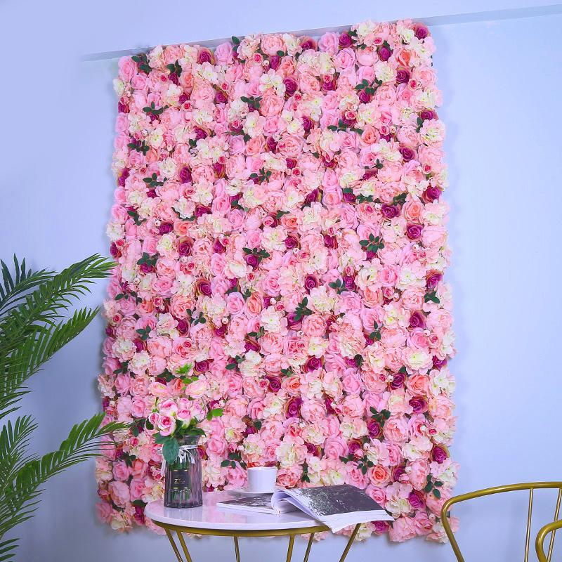 Nordic Art Simulation Rose Flower Wall Background Wedding Opening Mall Interior Decoration Plantwall Home Decoration Accessories