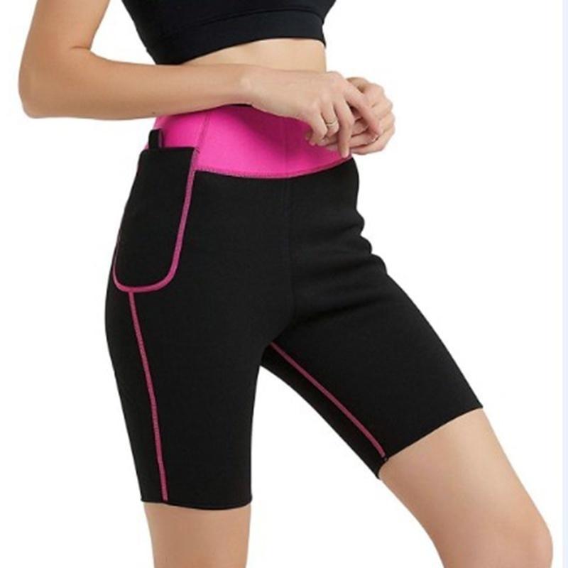 Balight Womens Slimming Fit Fit Thermal Hot Calças Calças Senhoras Peso Slin Slin Flexível Corporal Flexível Sporty Tranny Gym Shorts T200501