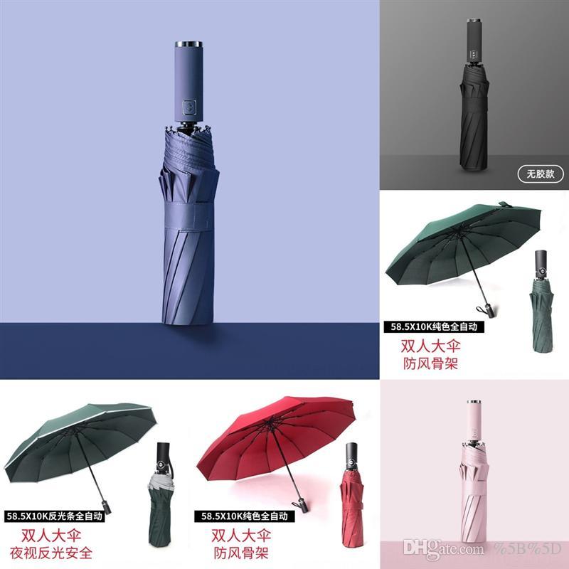 L1G Hot Hogar de madera UV UV Manejar paraguas personalizable Promoción Sólido Golf Strong Avesion A a prueba de viento Unisex Protección Solar