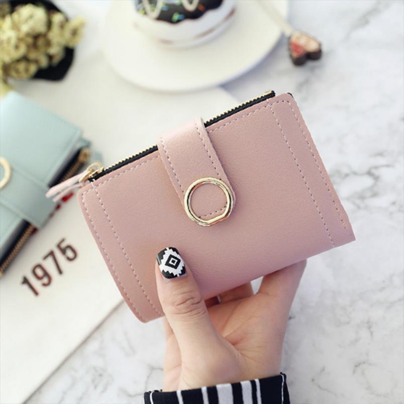 2019 Женщин бумажники Малого тавро кожаного кошелек женщина дама карта сцепление сумка Женский кошелек Симпатичный кошелек на молнию