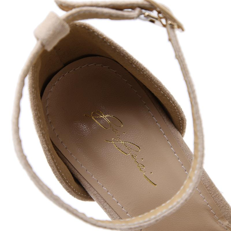 2021 Donne estive Sandali romani Ragazze Lady Sexy 11cm Tacchi alti Tunti Round Toe Scarpins Femmina Stilotto Tacchi a spillo Shoesmultazione