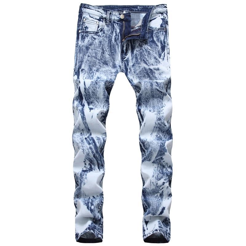 droites jeans stretch slim fit de 2020 hommes pantalons pour hommes