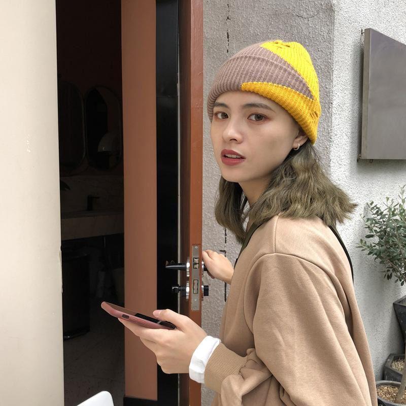 Garn gebrochenes Loch gestrickte Hüte Frauen Mode einzigartige Nachtclub Pullover warme Herbst Winter Massivfarbe Hut Trend