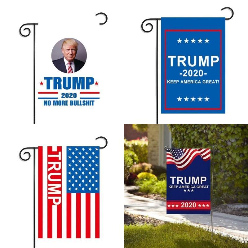 2020 Trump Drapeau Élection Rectangle Keep America Grand Jardin Bannière Fête Décoration extérieure Drapeaux campagne US 5 5mxa G2