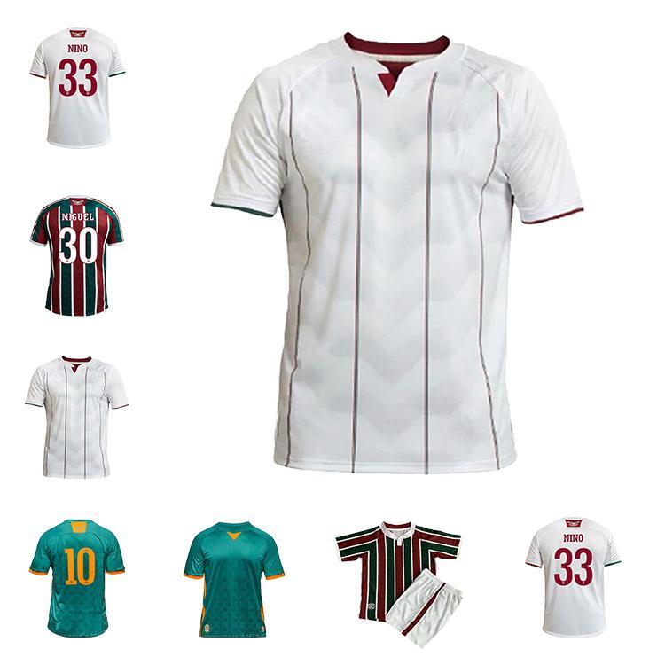 Fluminense 2020 21 Jerseys de futebol Ganso Fluzão Fred Phganso Hudson Nene Nino Henrique Futbol Camisas Futebol Camisetas Camisetas Homens + Kid Kit