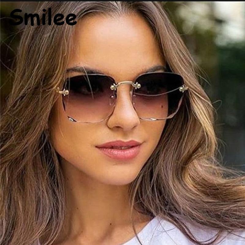 Mode männer braune frauen 2020 neue quadratische luxus luxus sonnenbrille rätsel rosa uv400 klare objektivgläser gafas übergroß tades randlos jsnrs