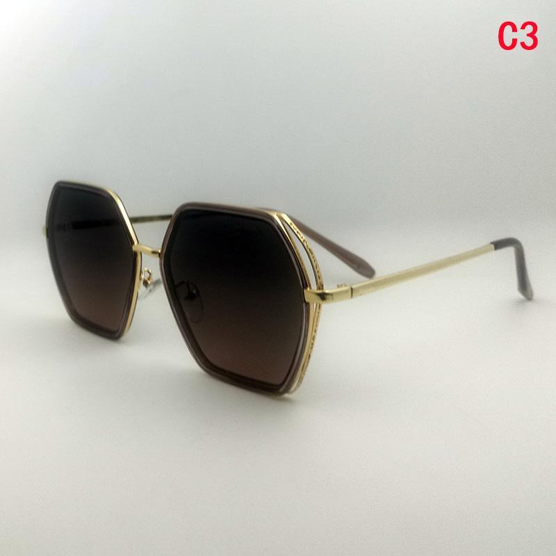 Mens Gold Glasrahmen Art und Weise Frauen Sonnenbrille lussowoman uv400 Full-Frame-Pilot blau qualitativ hochwertige Mode Sonnenbrille schicken Glaskasten