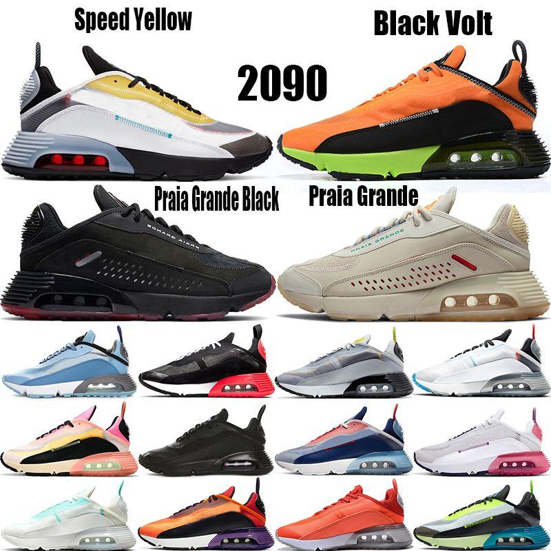 Avec la boîte 2090 hommes femmes chaussures de course USA futurisme Voile Magma orange Be True Blanc Noir Lava Glow formateurs des hommes de chaussures de sport de sports de plein air