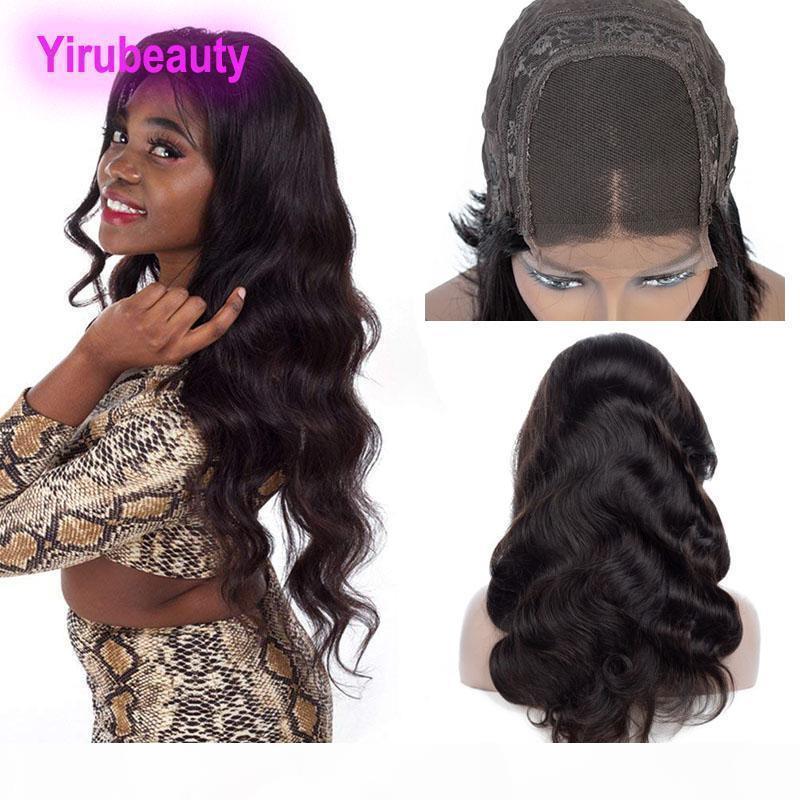Перуанская волна тела 3 пакета с 4x4 кружевной закрывающуюся парик Бесплатные части необработанные человеческие волосы кружевные парики 4x4 закрытие тела волна 8-26 дюймов