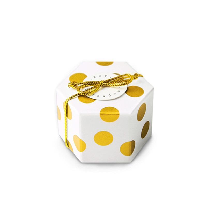 Tromba cioccolatini imballaggio scatola doratura bella universale eco amichevole contenitori di regalo esagono moda moda popolare nuovo arriva 0 29hb J1