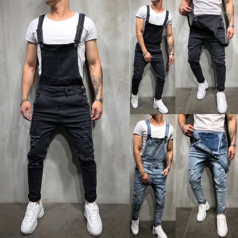 Jeans pour hommes Jumpsuits déchirés 2021 Mode HI Street HI Street Denim Denim Babotal de Business pour homme Pantalon Streetwear Taille S-XXXL1