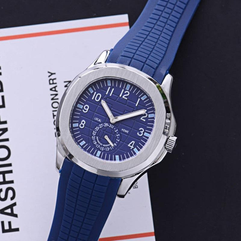 Nueva llegada Sport 43mm Cuarzo Reloj de Cuarzo Correa de goma DAIL CON FECHA Relojes de pulsera de alta calidad 17 Color Relojes