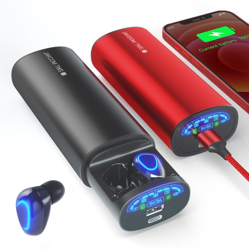 JAKCOM TWS2 True Wireless Earphone Power Bank 2in1 2021 newest electrionics headset headphones gaming pro oem hot selling amazon