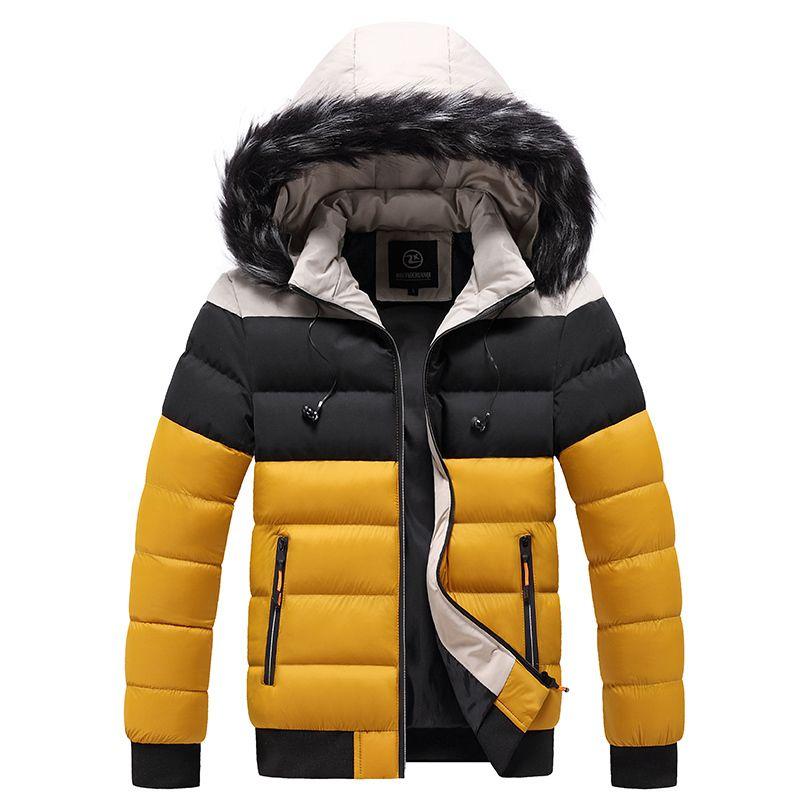 Homens com capuz jaqueta de inverno homens homens colarinho parkas casaco outono inverno homens de grandes dimensões parka casual grossa jaqueta quente homens 5xl 201126