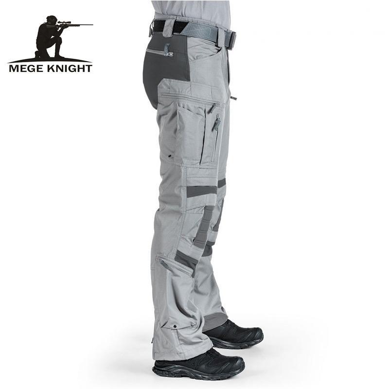Pantalon tactique de Megs Vêtements militaires Hommes Travaux Vêtements US Armée Cargo Pantalons de combat en plein air Pantalon de combat Airsoft Paintball Large Jambe 201118