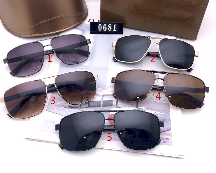 Moda Aviator Tasarımcılar Güneş Gözlüğü Lüks Yüksek Kalite Sürüş Renk Değiştirme Gözlük Erkekler ve Kadınlar için 0681