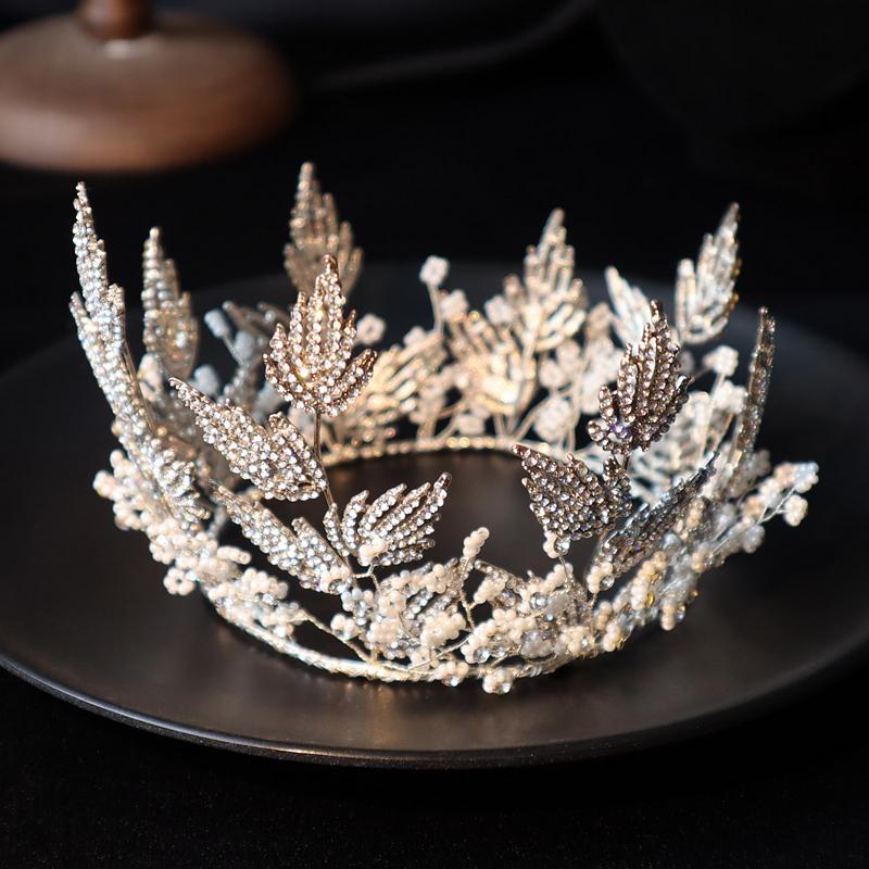 corona TMDress mano Oro Argento diamante in rilievo in studio Matrimonio sposa foto di viaggio copricapo m
