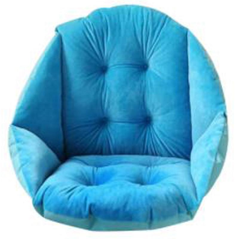 Macio Plush Shell Projeto Almofada do assento lombar Apoio Pillow Almofada para Seat Office Home Car Presidente Nádegas Pad Céu Azul