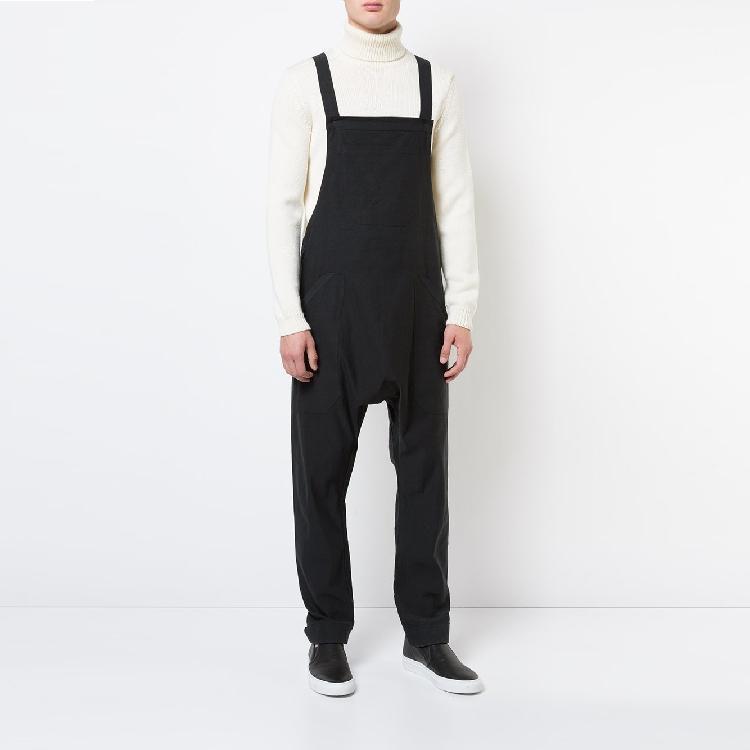 Мужские штаны 2021 весенний летний стиль комбинезон повседневных нагрудников Свободные гарема низкие промежности брюки парикмахерские