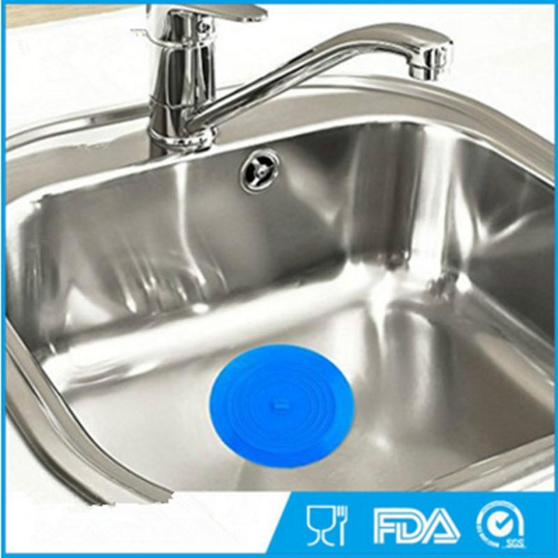 Silicone Sink Plug Drain Stopper Food Grade FDA 15CM Drain Plug Catcher Washroom Kitchen Silicone Supplies VTKY2106